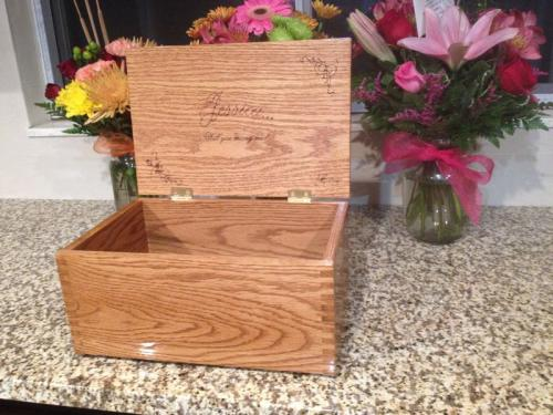 engraved wooden box highland il