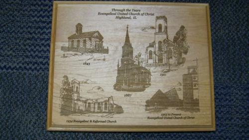 engraved church images highland il