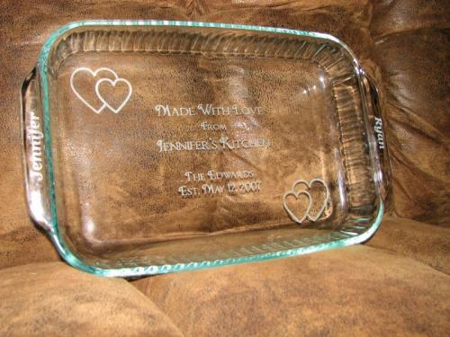 engraved glass dish highland il