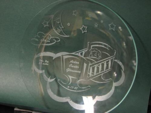 engraved glass plate highland il