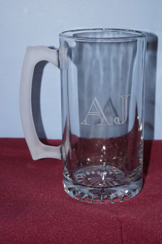 engraved beer mug in highland il